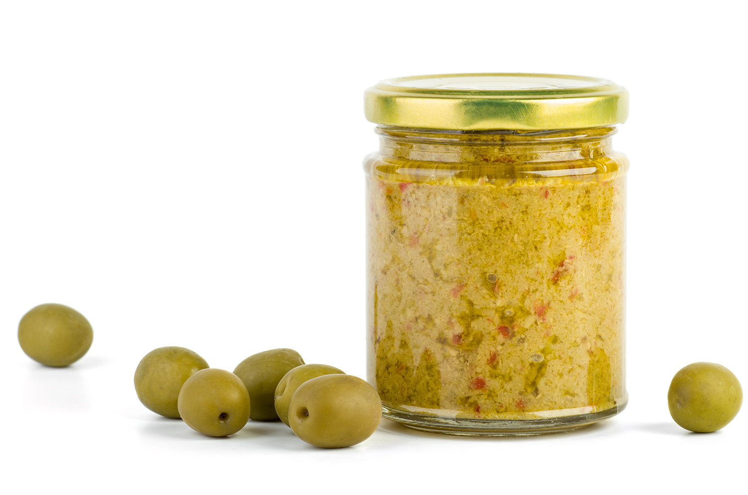 Glass Jar with Olive Paste
