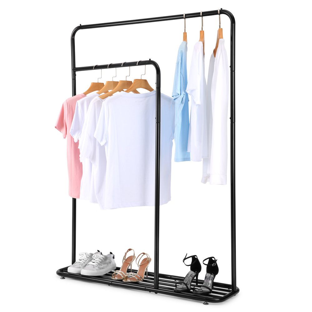 Two-rod Garment Hanging Rack