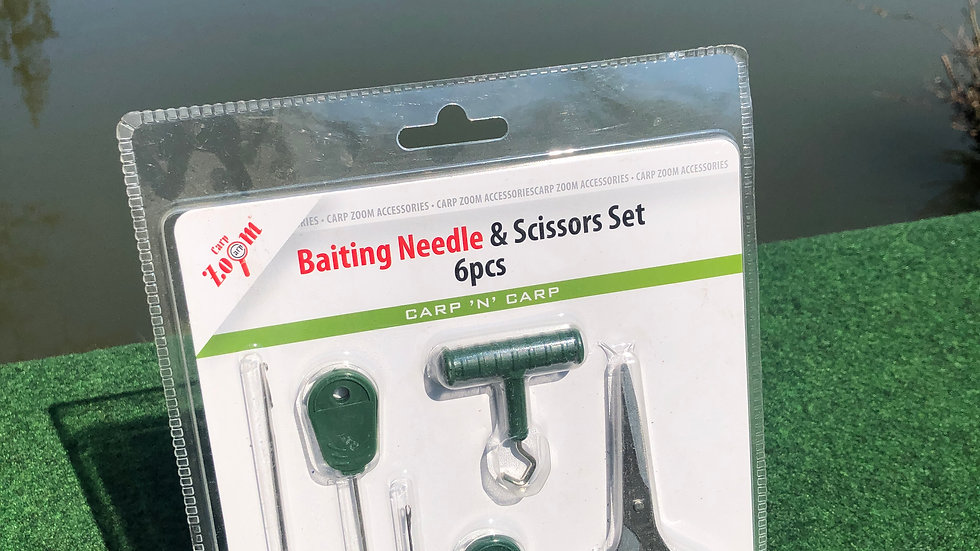 Baiting Needle & Scissors Set, 6 Teilig