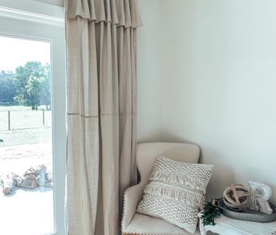 No Sew Drop Cloth Curtains!