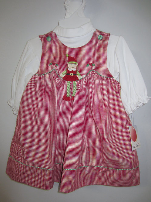 Petit Ami Red Gingham Elf Dress 36-00674