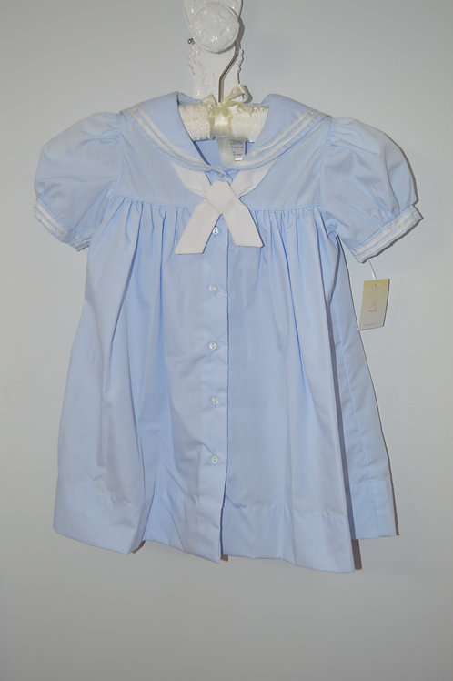 Petit Ami Light Blue Sailor Dress 36-00393