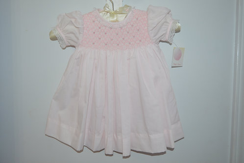 Petit Ami Pink Smocked Dress 36-00384