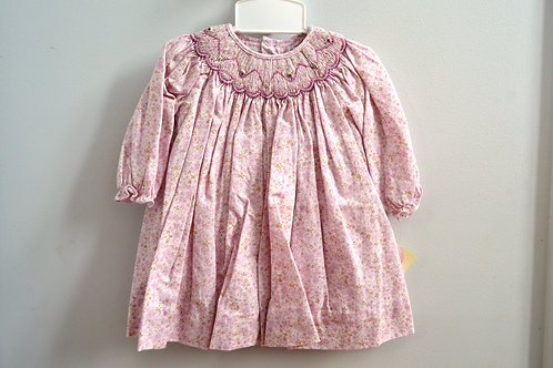 Petit Ami Pink/Lavender Smocked Dress 36-572,3,4