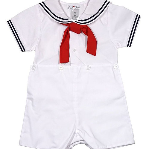 White Sailor Bobby Suit   36-00717