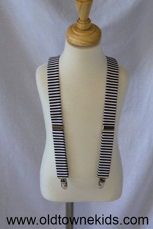 Stripey Black Suspenders by Tadpole and Lily