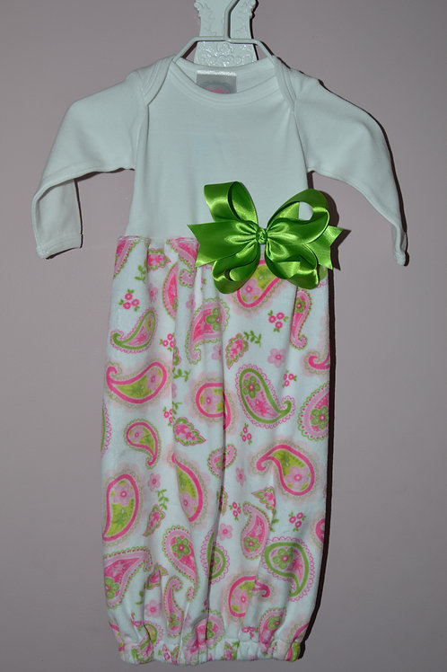 Sugarbugs Closet PaisleyGown w/ Lime Bow  29-00403