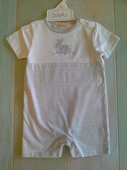 Knit Boy Bunny Romper  36-00640