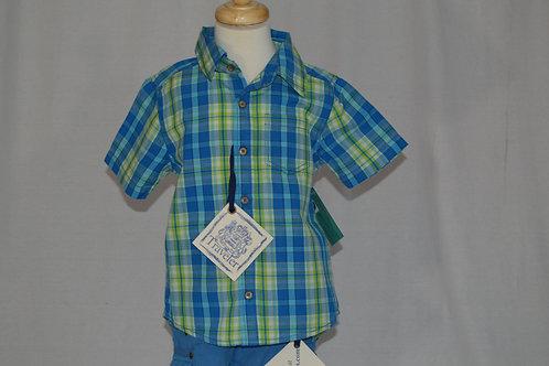 Traveler Cobalt Blue Checked Shirt 32-0304