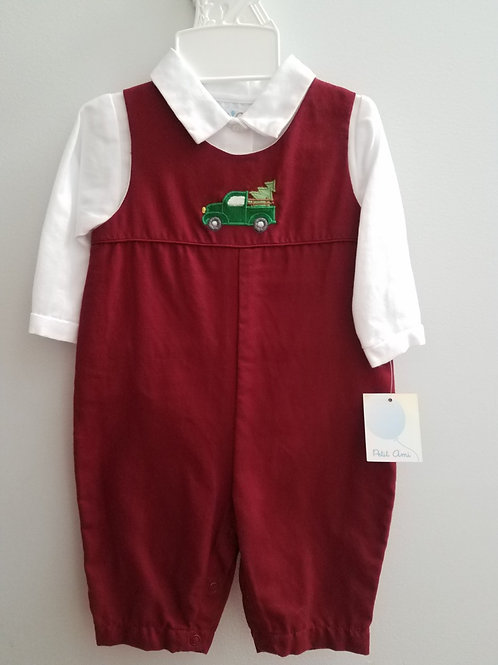 Petit Ami Burgundy Longall Truck and Tree  36-00653