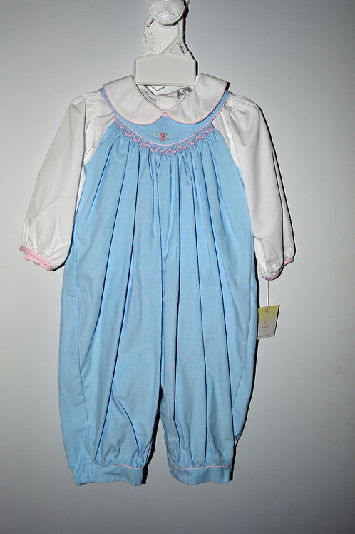 Light Blue Girl's Corduroy Longall  36-00496