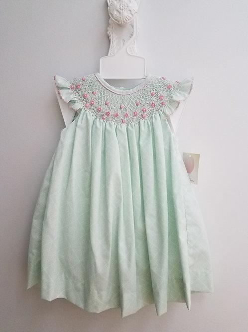 Aqua Smocked Angel Wing Dress     36-00628