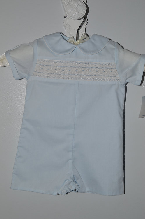 Petit Ami Blue Smocked Romper 36-00409, 500