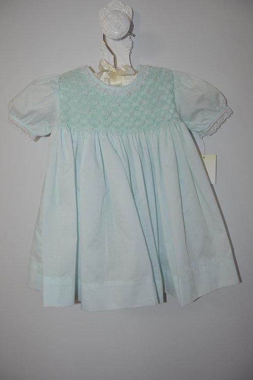 Petit Ami Mint  Smocked Dress 36-00383