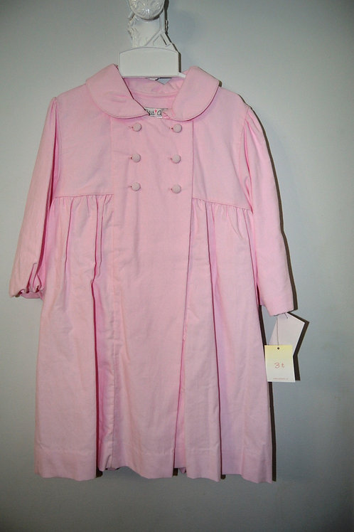 Petit Ami Corduroy Pink Coat   36-00481/475