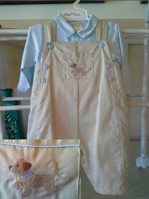 Tan Longall with Puppy Embroidery 36-00598