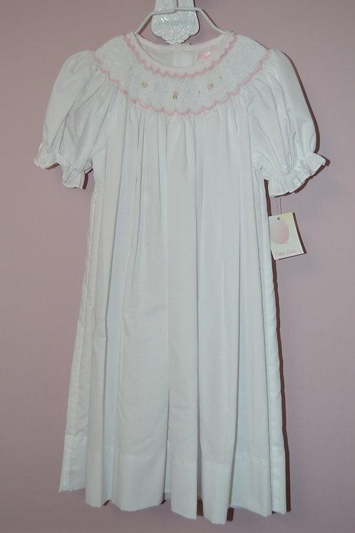 Petit Ami White Smocked Bishop Dress 36-00417
