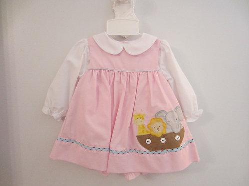 Zu Pink Dress with Noah's Ark 36-00660