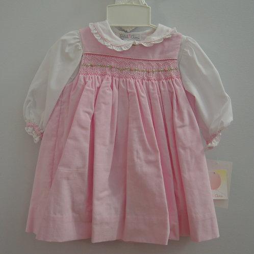 Pink Corduroy Smocked Jumper  36-00479