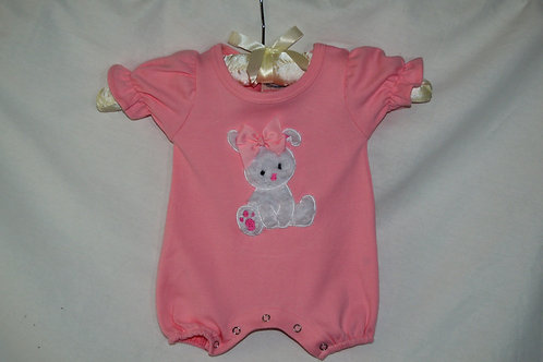 Pink Bunny Romper  29-00288