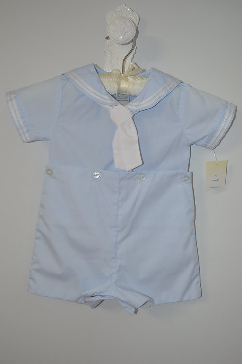 Petit Ami Sailor  Bobby Suit Lt Blue  36-00394