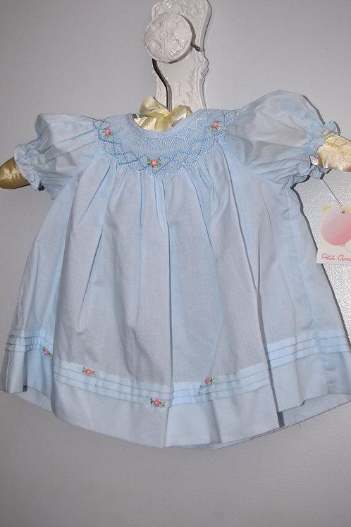 Newborn Blue Bishop Smocked Daydress 36-0361