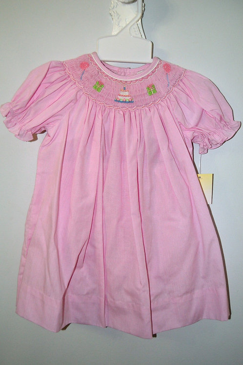 Petit Ami  Pink Smocked Birthday Dress  36-00538