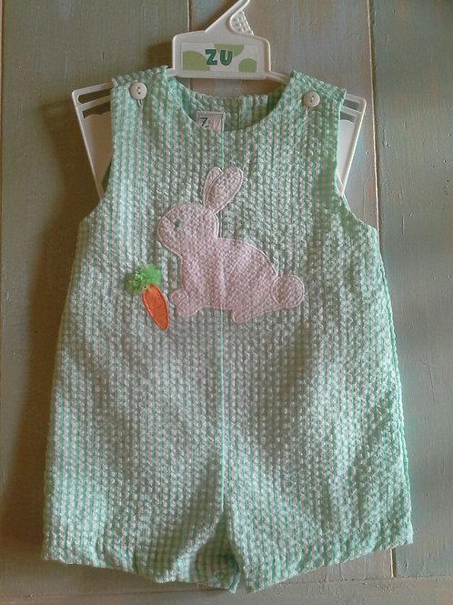 Green Seersucker Bunny Sunsuit 36-00618