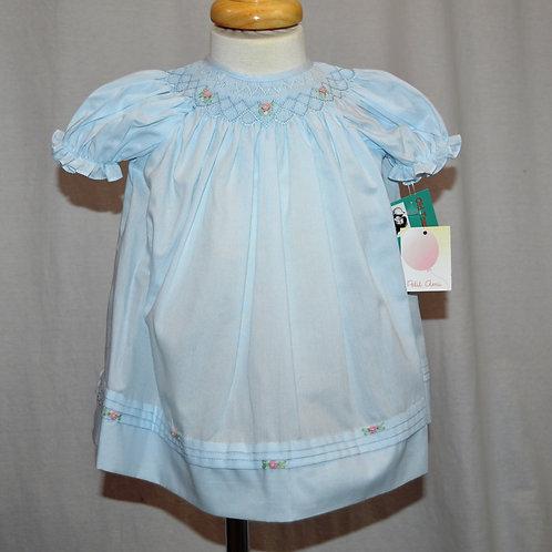 Blue Bishop Smocked Daydress - Petit Ami 36-00345
