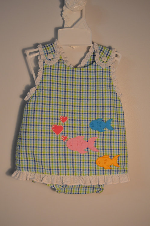 Blue/Green Plaid Fish Outfit 36-00714