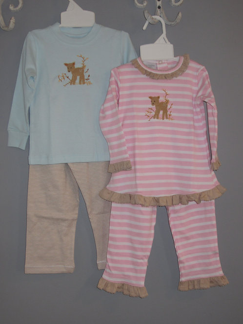 Squiggles Pima Cotton Girls Fawn Set 44-00695