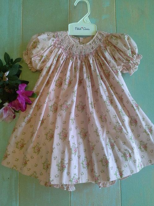 Petit Ami Rose Smocked Floral Dress 36-00611