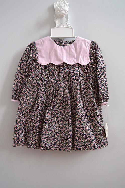 Petit Ami Navy Floral Dress 36-00575,576