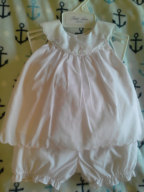 Petit Ami 2 Piece  Pink Anchor Outfit 36-0644