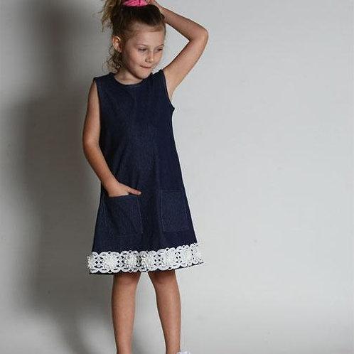 Pollyanna Tank Dress in Denim  38-00647
