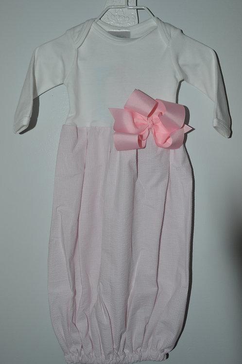 Sugarbugs Closet Seersucker Pink Gown 29-00405