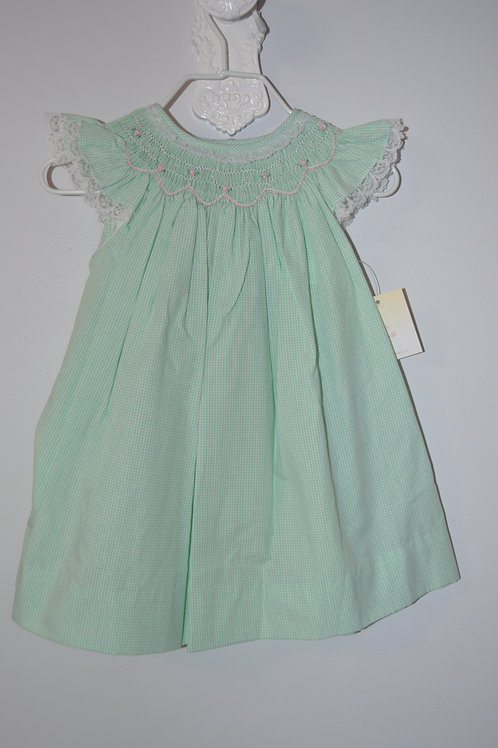 Smocked Light Green Dress  36-00707