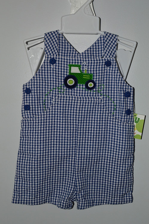 Navy Gingham Tractor Sunsuit  36-00545,546
