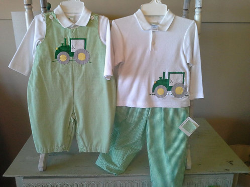 Green Longall with Tractor Applique  36-00603