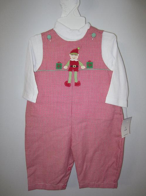 Petit Ami Red Gingham Elf Longall 36-00675