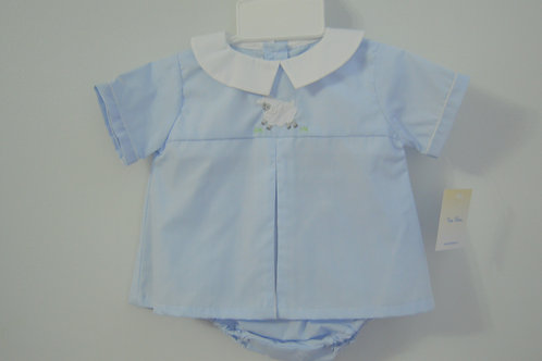 Blue Diaper Set w/Lamb  36-00698
