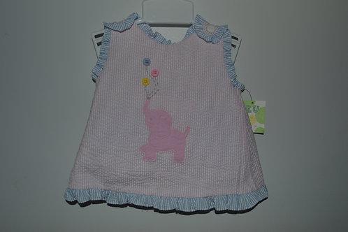 ZU Seersucker Pink Elephant 2 Piece outfit 553,554