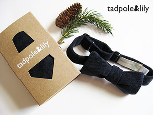 Inkwell Cord Bowtie by Tadpole and Lily