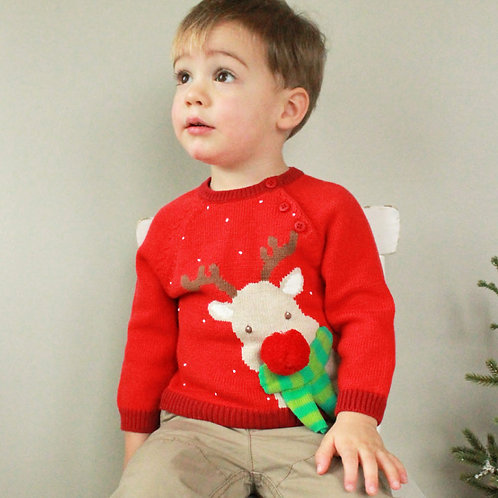 Zubels Boys Reindeer Sweater   4100609