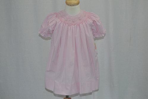 Petit Ami Smocked Pink Gingham Dress 36-00382,0363