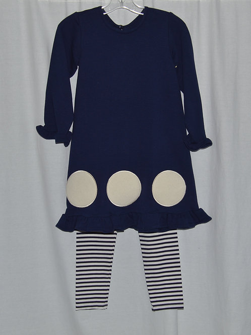 Navy Kate dress with leggings 16-00350