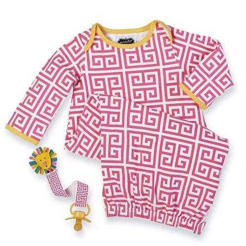 Safari Sleep Gown & PacyClip by Mudpie