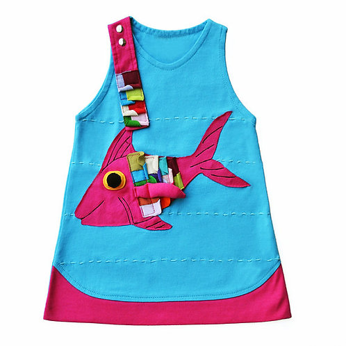 Fish Dress in Blue & Pink  Zoology Kids 31-0325
