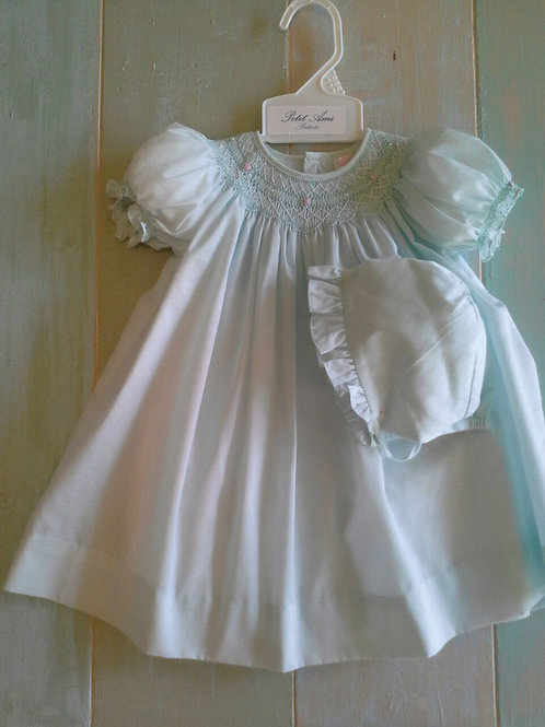Petit Ami Smocked Mint Dress 36-00621
