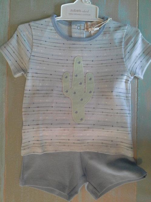 Zu Organic Cotton Cactus Shirt&Shorts 36-00636